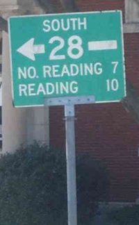 No Reading street sign